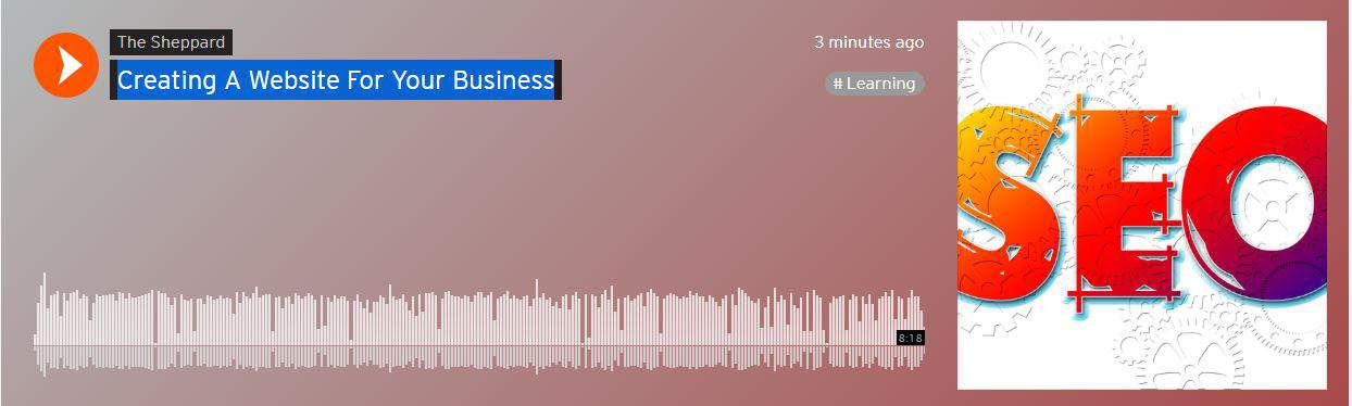 Sound Cloud Audio Creating A Website For Your Business