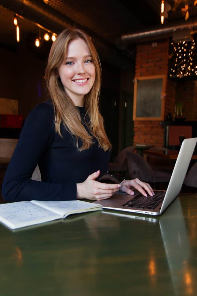 The custom website as designed by a business women